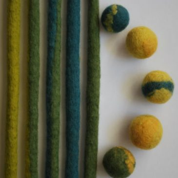 Felted Beads & Cords